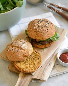 Pain à burger express & vegan à la patate douce (remplacer graines de chia par dulin)