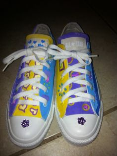 Custom hand-painted Sneakers by ALEX Painted Converse, Painted Sneakers, Running Sneakers, Running Shoes, Custom Paint, Chuck Taylors, Converse Chuck Taylor, Kid Stuff, Casual Wear