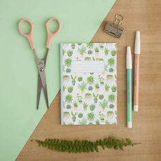 Houseplants Print  Illustrated A6 Pocket Notebook  Notebook