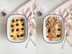 Healthy Apple Crumble Recipe - sugar free, no flour or butter. Made with oats, coconut, goji, almonds.