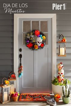 Although the name may sound a little scary, Dia De Los Muertos, or Day of the Dead, is a time to remember those who have passed on and perhaps entice them to stop by for a quick visit. You can guide any wandering souls to your door with an inviting front porch.