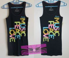 Authentic (Original) & Brand New!!  Aeropostale Music,Peace,Love and Printed Aero TopTank  composition: 96% cotton, 4% spandex/elastane #shopping #deals #nailthatdeal