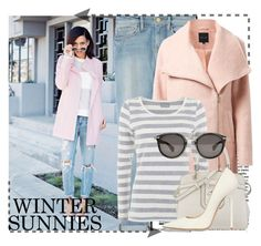"""Winter Sunnies"" by samang ❤ liked on Polyvore featuring moda, Frame Denim, Mint Velvet, Nine West, Jimmy Choo e Moncler"