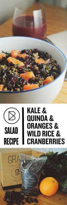 This kale quinoa salad is so satisfying. It gets some extra crunch from wild rice. The dressing is a maple dijon vinaigrette but you can use your favourite. This recipe is vegan.