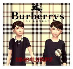Burberry shirts for boys | Sims4Luxury