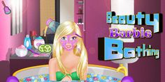 Beauty Barbie Bathing - jocuri Barbie machiaj - Barbie Jocuri Barbie, Bathing, Neon Signs, Play, Beauty, Bath, Swim, Beauty Illustration, Barbie Dolls