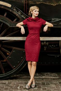 Full Steam Ahead Dress in red from Shabby Apple, $109 (sizes 0/2-14/16)