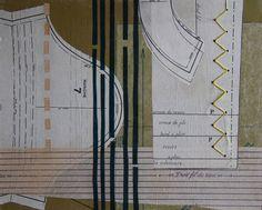"""""""COUTURES"""" de Sonia Meunier... des explorations graphiques autour du patron de confection devenu matière première.   http://www.lesflechettes.com/"""