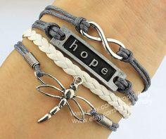 Etsy listing at http://www.etsy.com/listing/155507339/infinity-bracelet-hope-bracelet $4.99