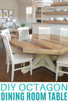 Learn How To Make Your Own Dining Room Table With This Diy Octagon