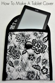 How To Make A Tablet Cover from NewtonCustomInteriors.com #sewingtutorials