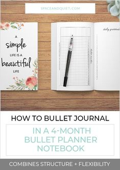 The Bullet Planner Notebook has just enough structure to help you start bullet journaling with ease. Stay up-to-date and journal consistently without spending hours designing pages. Plus, there's still plenty of room to add custom pages, daily or weekly logs, headings, and trackers that you can draw and decorate any way you like! #bulletjournal #bulletjournaling #bulletplanner #bulletplannernotebook #easybulletjournal #beginnersbulletjournal #howtobulletjournal #bujo #habittracker #calendar Keeping A Bullet Journal, Bullet Journal Index, Bullet Journal Notebook, Bullet Journal Printables, Journal Template, Bullet Journal Layout, Goal Setting Template, Dot Grid Notebook, Unique Symbols