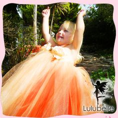 Coral Dreams Rose Flower Tutu Gown | Tutus | Sweet n Sassy Tutus and Photo Props