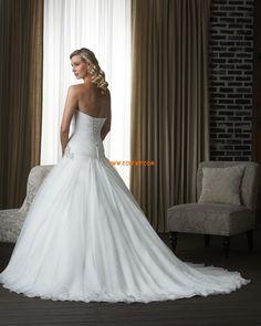 Princess Court Train Straps Wedding Dresses 2014