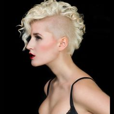 Check out Guppi Ra's Hair Upload of the Day on the Bangstyle App! #love #mohawk #curls #curly #blonde #hair #hairstyles #curlyhair #inspiration #haircut #shavedsides #hairblogger #beauty #bblogger #hairstylist #blondehair #chic #hot #style #bangstyle