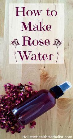 How to Make Rose Water - Holistic Health Herbalist How to Make Rose Water - quick and easy from dried rose petals Beauty Care, Diy Beauty, Beauty Skin, Beauty Tricks, Parfum Bio, Diy Cosmetic, Beauty Hacks For Teens, How To Make Rose, Dried Rose Petals