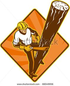illustration of a power lineman electrician repairman worker at work climbing electric utility pole set inside diamond on isolated background viewed from a high angle - stock vector #powerlineman #retro #illustration