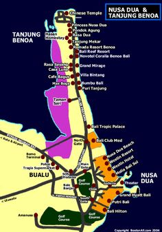 Map of Nusa Dua   Bali Blog