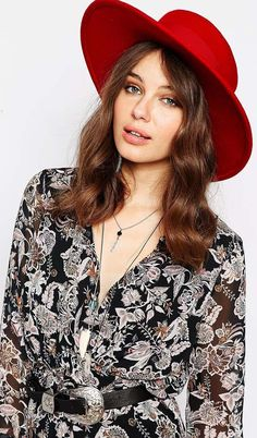 In the US, we call this a gaucho hat. In the UK, they call it a matador. Either way it's cute. Read my fashion article with hat tips - http://www.boomerinas.com/2015/06/10/fall-hats-2015-wide-brim-fedoras-for-women-with-style/