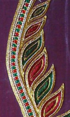 Aari Embroidery, Bead Embroidery Patterns, Loom Knitting Patterns, Creative Embroidery, Flower Embroidery Designs, Cutwork Blouse Designs, Simple Blouse Designs, Simple Designs, Neckline Designs
