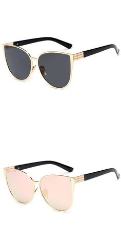 a48e81691fc45 New Cat Eye Sunglasses Women Fashion Summer UV400 Oversize Style Big Size  Frame Mirror Sun Glasses Female Oculos