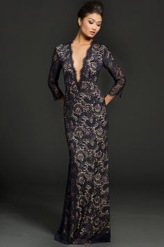Long Sleeve Lace Jovani Gown