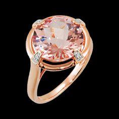 Morganite in Rose Gold