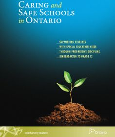 Ministry Of Education, Special Education, Safe Schools, Ontario, Students, Pdf