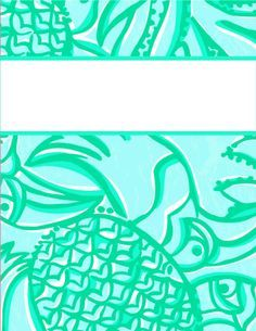 Printable Binder Cover Templates  Lilly Pulitzer Binder Cover