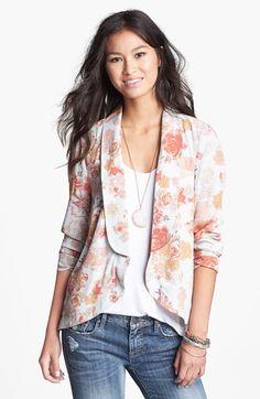 BCNU Floral Print Blazer (Juniors) available at #Nordstrom