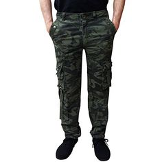 d24faf89d9411 Newfacelook New Mens Cargo Trousers Combat Military Jeans Work Wear  Camouflage Pants