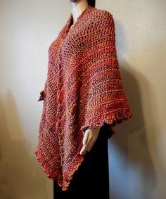 Autumn Orange Triangle Shawls Wraps Fall Winter Fashion Accessories – Robin Harley FREE SHIPPING! $90.00