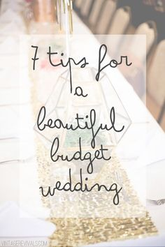 7 Tips To Pull Off A Budget Wedding (and Pictures! 7 Tips To Pull Off A Budget Wedding (and Pictures!) Smith T Interiors Gubler Budget Wedding, Wedding Tips, Wedding Details, Diy Wedding, Wedding Planner, Destination Wedding, Dream Wedding, Wedding Day, Wedding Coordinator