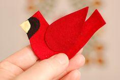 tutorial -  great Cardinal applique tutorial by Erin Russek