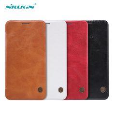 Zenfone2 Case Original NILLKIN Qin Series Flip Cover Luxury PU leather Case for Asus Zenfone 2 ZE551ML ZE550ML With Tracking Q02