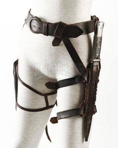 Rockets (Jena Malone) Leather Belt with Holsters   Prop Store - Ultimate Movie Collectables