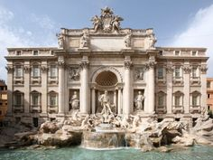 the trevi fountain (italian: fontana di trevi) is a fountain in the trevi rione in rome italy. the trevi fountain was finished in 1762 by giuseppe pannini. Beautiful Sites, Beautiful World, Beautiful Places, Trevi Fountain, Most Visited, Rome Italy, Australia Travel, Around The Worlds, Rome