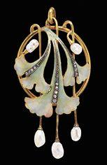 art nouveau brooch with enameling, courtesy Joden jewelry museum