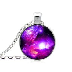 Fine or Fashion: FashionItem Type: Necklacesis_customized: YesPendant Size: ClassicNecklace Type: Pendant NecklacesGender: UnisexMaterial: NoneChain T Geek Jewelry, Fashion Jewelry, Jewellery, Galaxy Space, Astronomy, Cosmos, Christmas Bulbs, Sci Fi, Universe