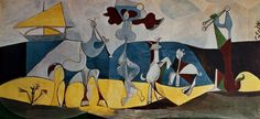 Picasso, 'Joie de vivre' a painting from his Antibes period that is staying with me at the moment, via Flickr