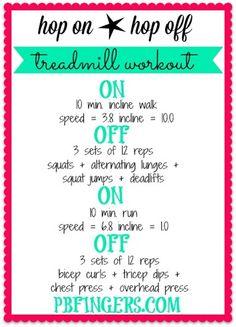 Hop On, Hop Off Treadmill Workout | Peanut Butter Fingers
