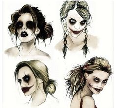 Harley Quinn with Joker makeup!!! because Harley Quinn is awesome