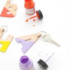 Learn how to use the Cricut Explore to cut your own monogram leather keychain