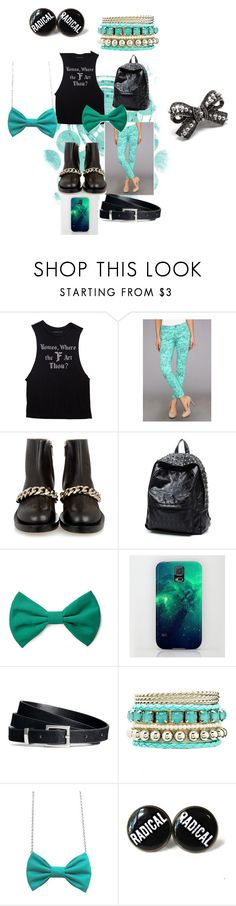 """""""teal to you"""" by chelle12700 ❤ liked on Polyvore featuring Mavi, Forever 21, Samsung, H&M, Charlotte Russe, Freena and Pink Mascara"""