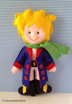This boy doll is made from high quality felt, cut and sewed by hand, ideal gift for everyone! It can decorate a nursery room, a birthday party or even it can be a christmas gift! Since this doll is made to order, you can choose from the green outfit or the white outfit and the blue