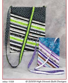 I have this pattern, too. Must remember to make it! Selvaging the Messenger Bag Pattern by High Street Designs.