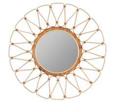 "Summer Rattan Round Wall Mirror - 35"" #potterybarn Mirror With Shelf, Round Wall Mirror, Mirror Art, Floor Mirror, Round Mirrors, Pottery Barn Wall Art, Octagon Mirror, How To Clean Mirrors, Free Interior Design"