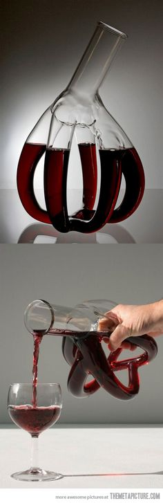 Certainly different  http://www.amoeno.com/wine-shop/decanters/big-heart-decanter/  A mere $48,888.00