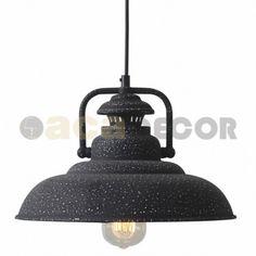 Φωτιστικό κρεμαστό καμπάνα vintage μαύρο σκουριά KS184331