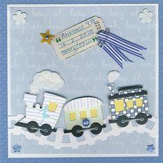 Hjemme hos Charlie: Babykort til kollega /Welcome baby card...